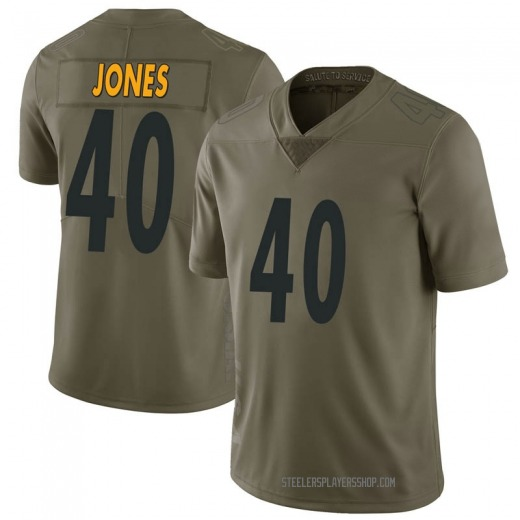J.T. Jones Youth Pittsburgh Steelers Nike 2017 Salute to Service Jersey - Limited Green